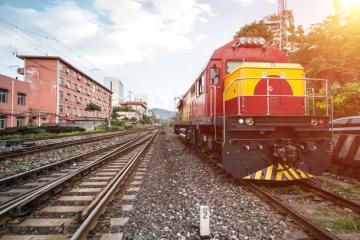 train stopped railway
